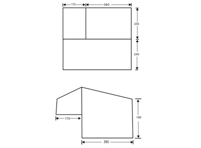 Trailer Tent SC05 (12ft Straight Wall)